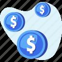 coin, dollar, finance, money, savings