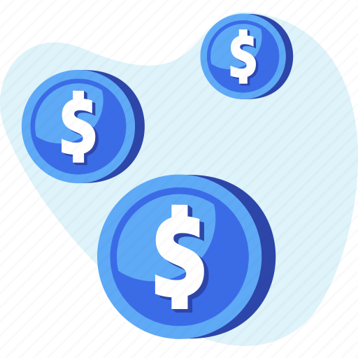 coin, dollar, finance, money, savings icon