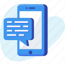 business, chat, message, mobile, sms icon