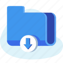 business, document, downlaod, file, folder icon