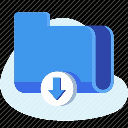 business, document, downlaod, file, folder icon