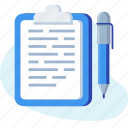 list, note, notepad, paper, pen, write icon