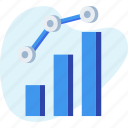 analytics, chart, graph, increasing, report icon