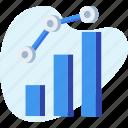 analytics, chart, graph, increasing, report