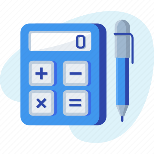 budget, business, calculation, calculator, math, pen icon