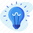 bulb, business, creative, idea, light icon