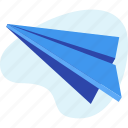 mail, message, paper, plane, send, startup icon