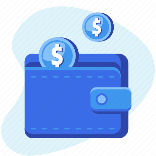 cash, coins, finance, money, savings, wallet icon