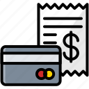 bill, business, card, finance, invoice icon