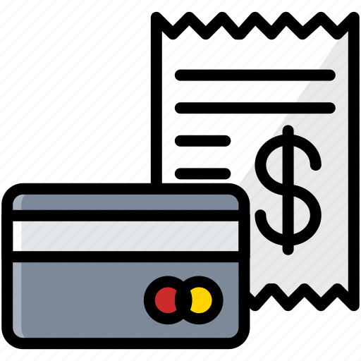 bill, business, card, finance, invoice icon