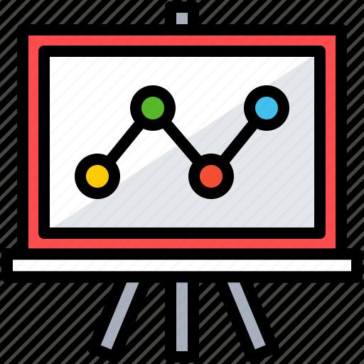analysis, business, chart, finance, training icon