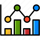 business, chart, finance, research icon