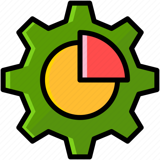 Business, chart, finance, gear icon - Download on Iconfinder