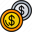 business, coins, exchange money, finance, money icon