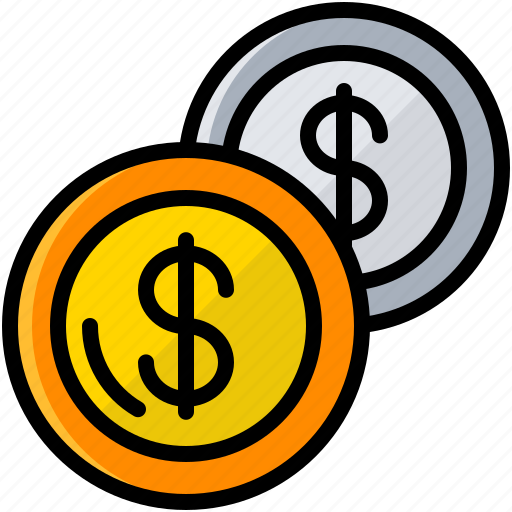 business, coins, exchange money, finance, money icon