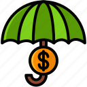 business, finance, insurrance, umbrella icon