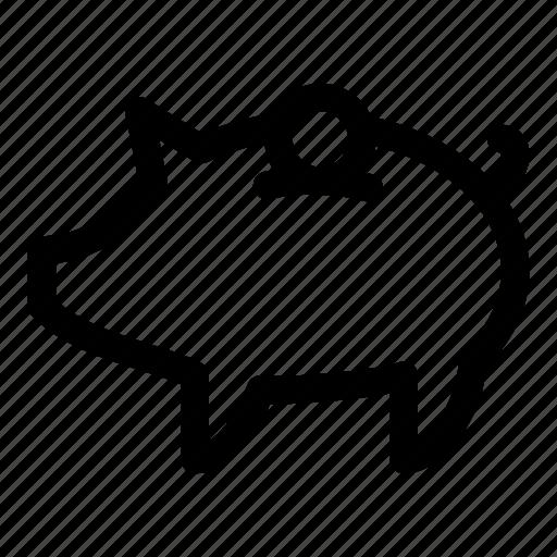 coin, coins, finance, money, piggy, piggy bank, saving icon