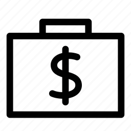 bag, cash, dollar, finance, money, suitcase, usd icon