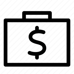 bag, cash, finance, money, suitcase icon