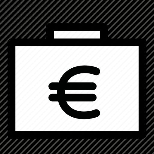 bag, cash, finance, money, suitcase icon