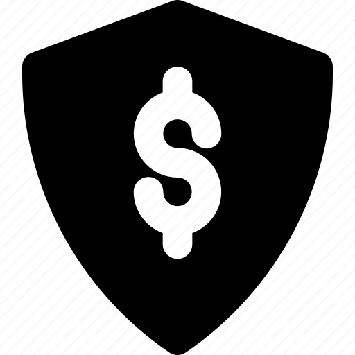 Money, dollar, finance, business, shield icon