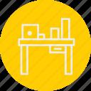 banking, business, desk, finance icon