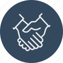 banking, business, finance, handshake icon