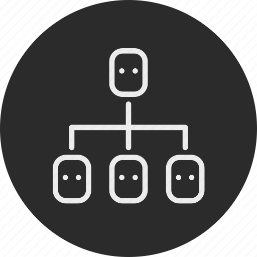 banking, business, finance, hierarchical, structure icon
