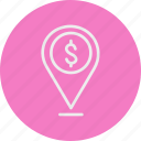 banking, business, finance, location icon
