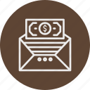banking, business, finance, mailmessage icon