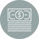 banking, business, cash, doller, finance, money icon