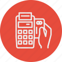 banking, business, finance, of, point, service icon