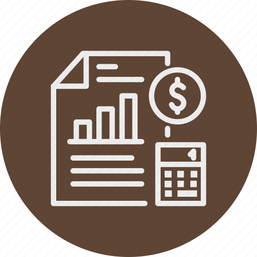 banking, business, calculator, finance, report icon