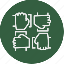 banking, business, finance, teamwork icon