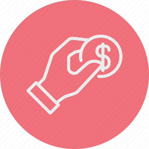 banking, business, coin, doller, finance, hand, money icon