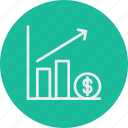 banking, business, finance, graphchart icon