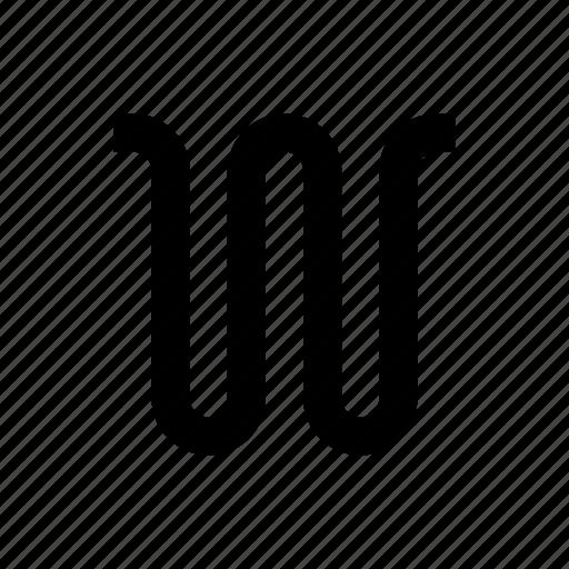 curve, graph, line icon