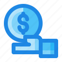 donation, funding, giveaway, money icon