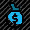 bag, money, of, coin, dollar, finance