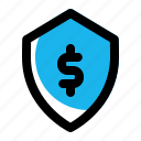 lock, money, payment, protection, secure, security, shield icon