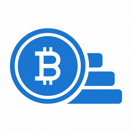 bitcoin, coins, cryptocurrency, currency, money, stacked, virtual icon
