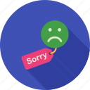 apology, customer, hanging, letter, notice, sorry