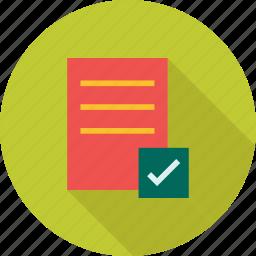 check, checklist, clipboard, document, list, paper icon