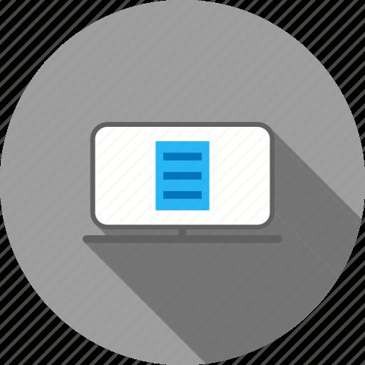 account, bank, credit, e-statement, report, statement icon
