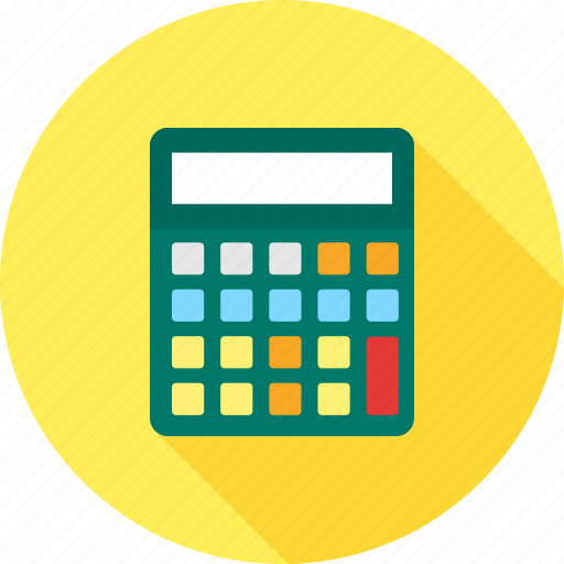 buttons, calculate, calculator, count, electronic, financial, mathematics icon