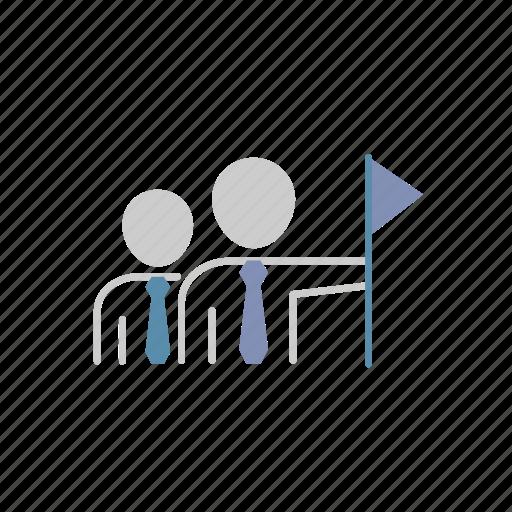 business, finance, goal, group, success, team, teamwork icon