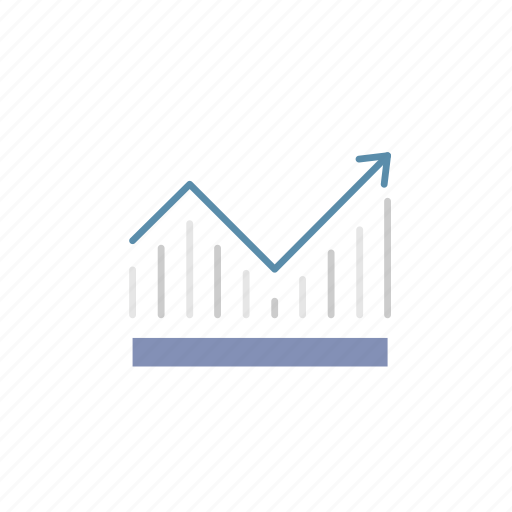 business, finance, frequency, graph, growth, progress, sales icon