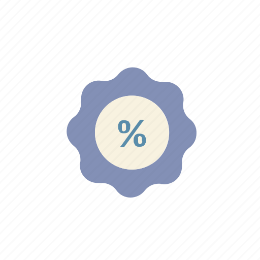 business, discount, finance, label, offer, percent, sale icon