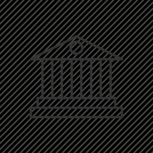 bank, building, business, deposit, finance, money, saving icon
