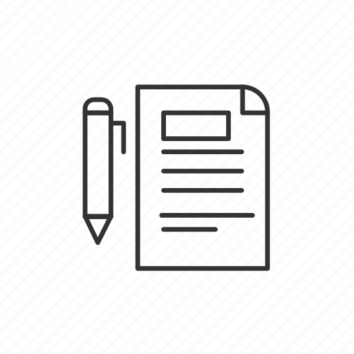 archive, business, contract, document, finance, paper, pen icon
